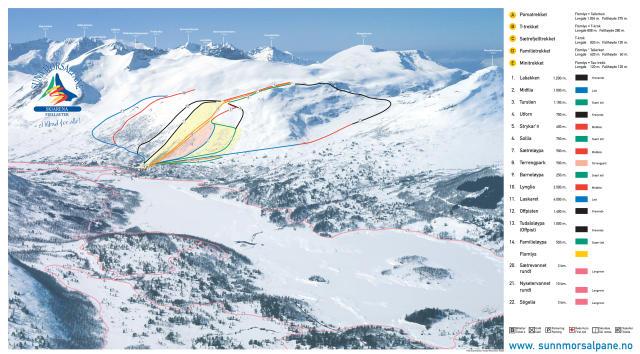 Sunnmorsalpane Mapa zjazdoviek