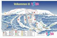 Vassfjellet Skiheiser Mapa zjazdoviek