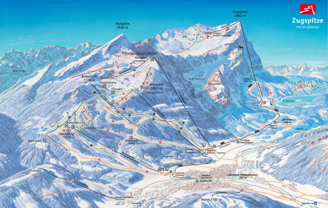 Garmisch Classic-Skigebiet Trail Map
