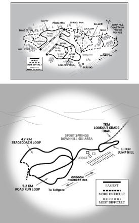 Spout Springs Piste Map