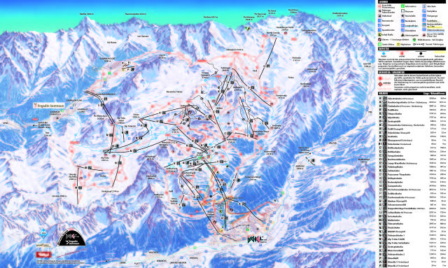 Ischgl Piste Map