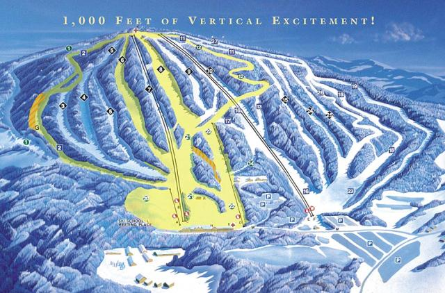 Elk Mountain Ski Resort Piste Map