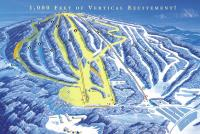 Elk Mountain Ski Resort Mapa tras