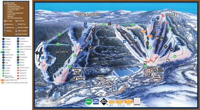 Hidden Valley Resort Mappa piste