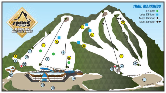 Spring Mountain Ski Area Trail Map