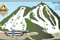 Spring Mountain Ski Area Mapa tras