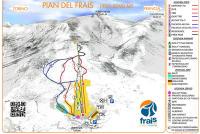 Pian del Frais di Chiomonte Mapa zjazdoviek