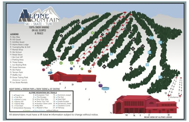 Alpine Mountain Mappa piste