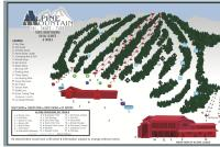 Alpine Mountain Piste Map