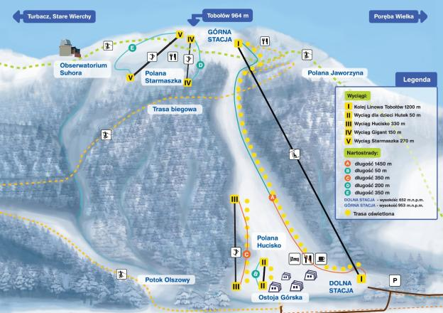 Plan des pistes