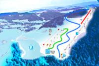 Limanowa ski Mapa zjazdoviek