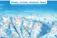 Les Crosets Trail Map