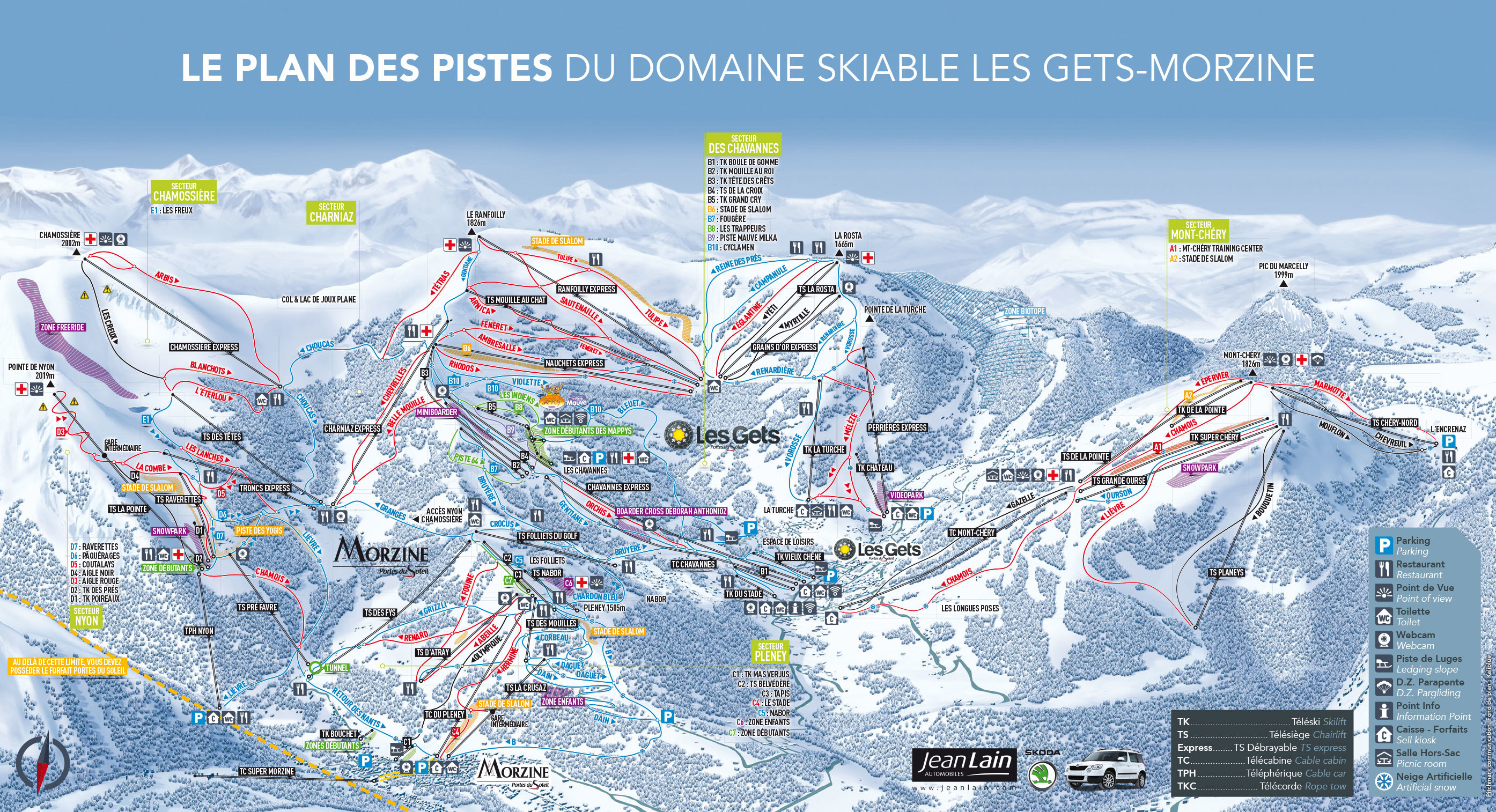 les gets piste map plan of ski slopes and lifts onthesnow. Black Bedroom Furniture Sets. Home Design Ideas