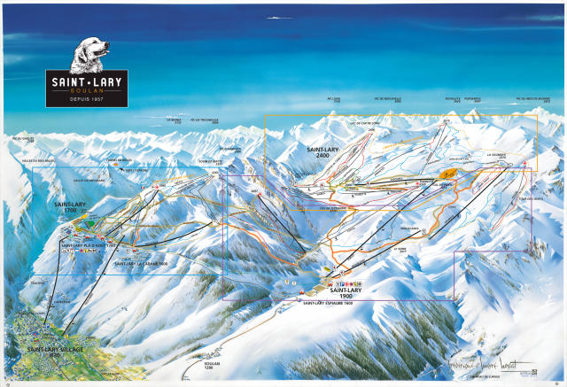 Saint Lary Soulan Piste Map