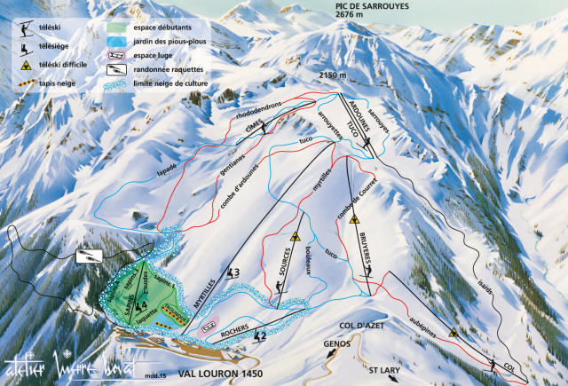 Val Louron Trail Map