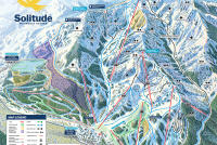 Solitude Mountain Resort Mapa tras