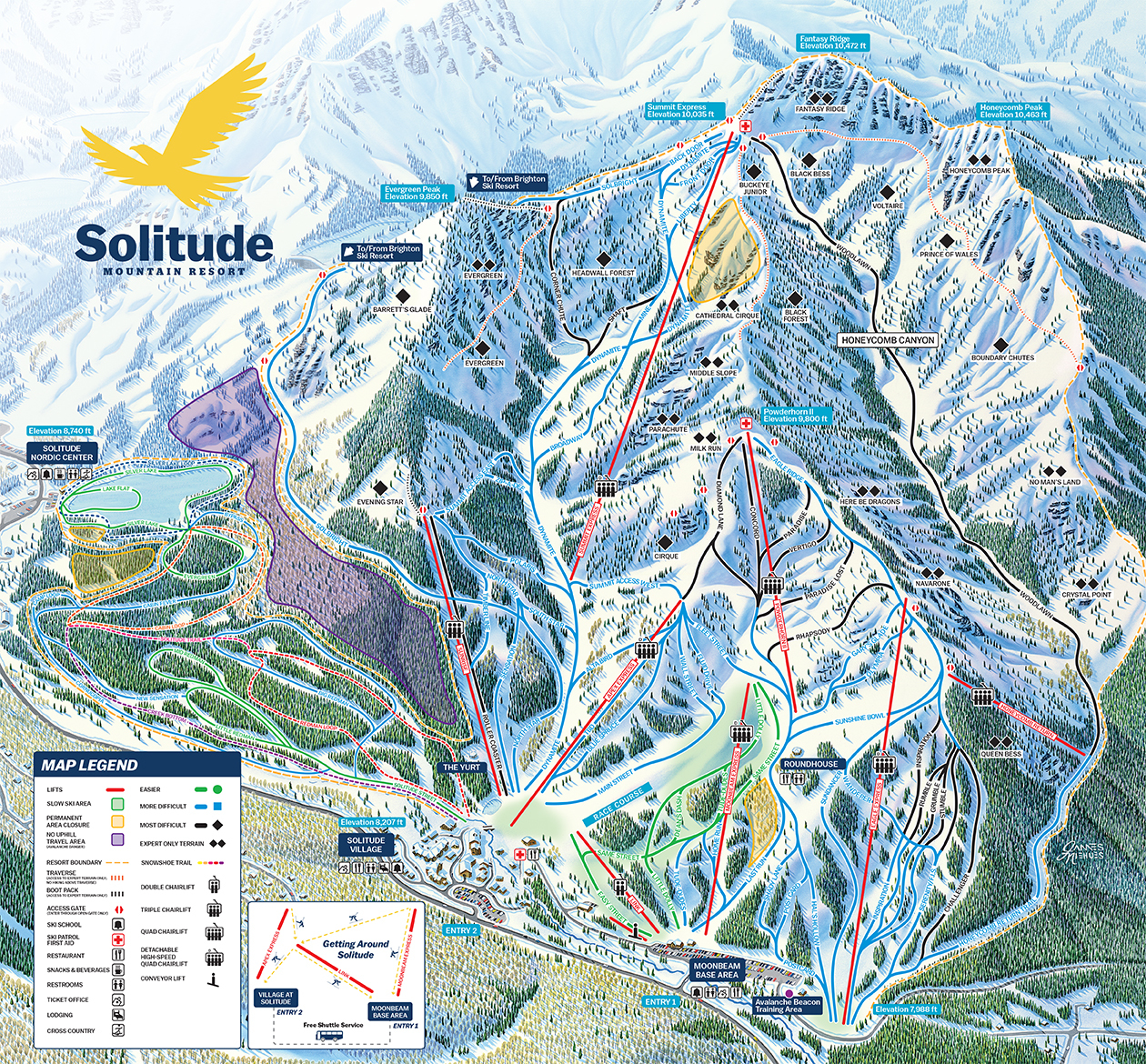 Solitude Mountain Resort Trail Map - Map of colorado ski resorts and cities