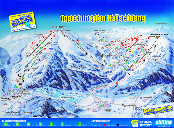 Katschberg Trail Map