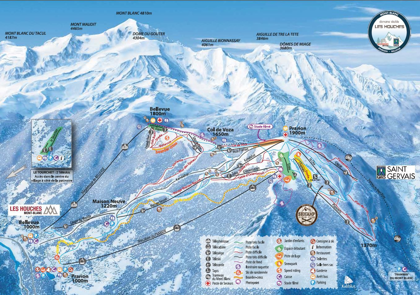 Flaine ski map
