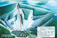 Badger Pass Mappa piste