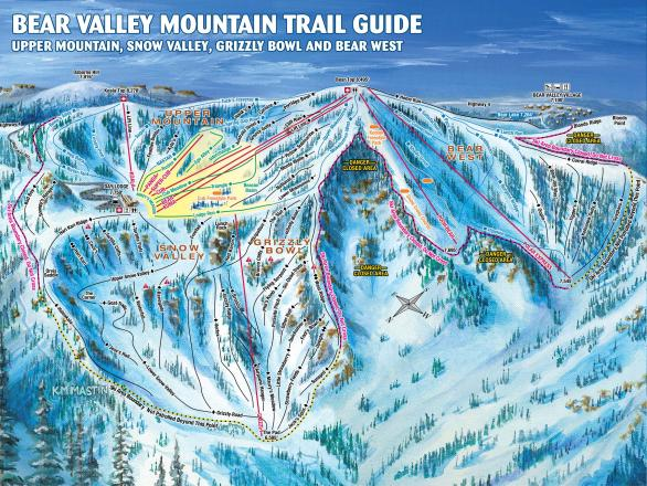 Bear Valley Mappa piste