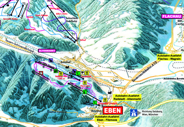 Eben Trail Map
