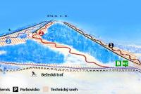 Čičmany Piste Map