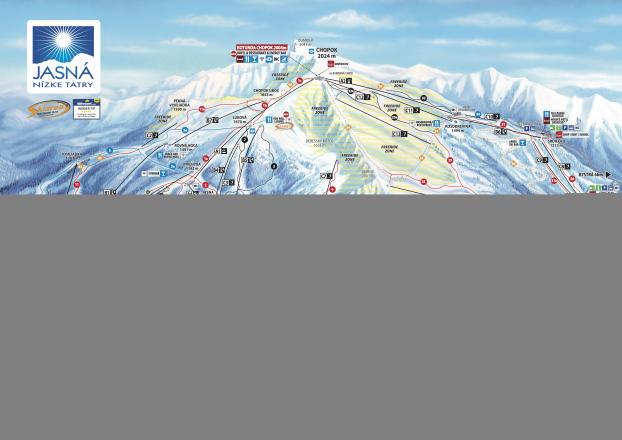 Jasná Nízke Tatry Mapa zjazdoviek