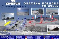 Oravská Polhora - Polhorský hrádok Mapa tras
