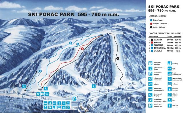 Poráč Park Trail Map