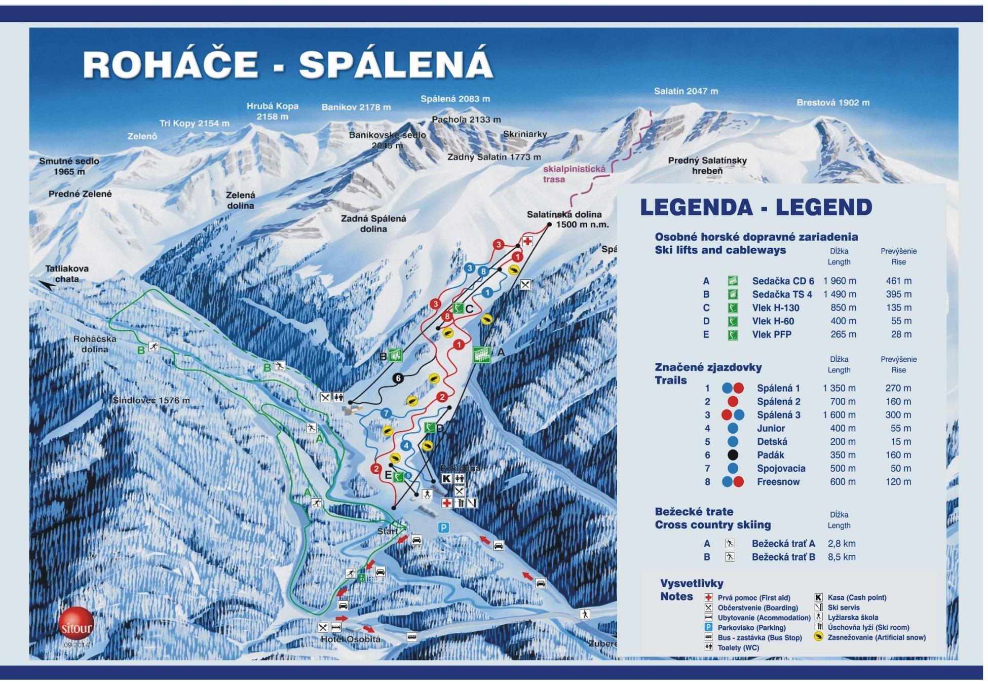 lyziarska trasa - Ski Spalena