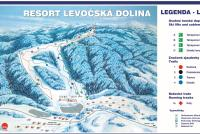 Resort Levočská dolina Piste Map