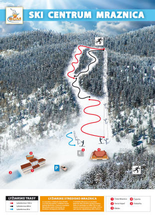 Hnilčík - Ski centrum Mraznica Trail Map