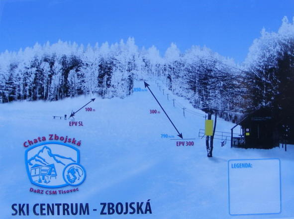 Ski Zbojská Trail Map