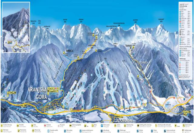 Kranjska Gora Trail Map