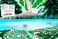 Deer Mountain Ski Resort Mapa zjazdoviek