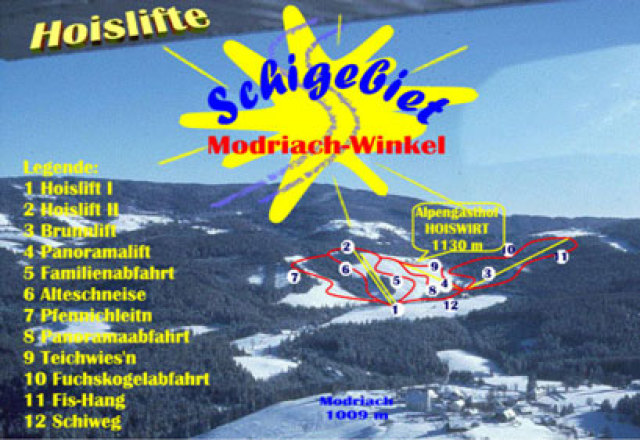 Modriach-Winkel Hoislifte Trail Map