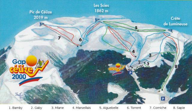 Céüze Piste Map