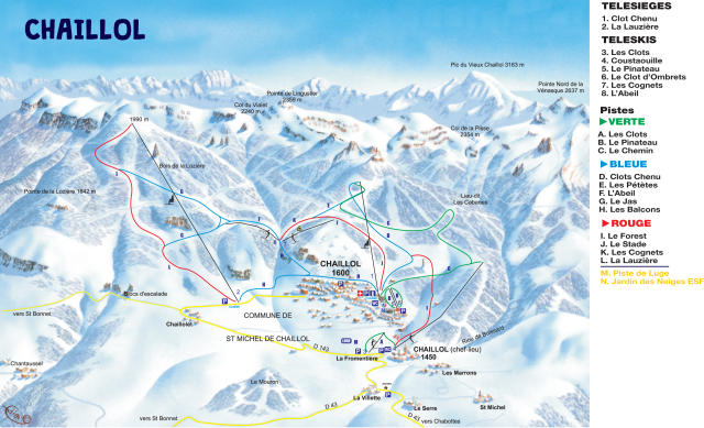 Chaillol Piste Map