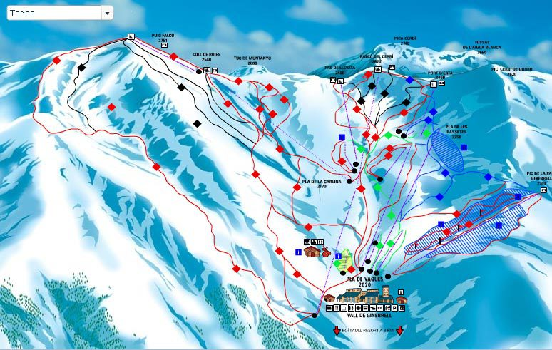 Pirineo Catalan Spain  city images : Boí Taüll Piste Map | Plan of ski slopes and lifts | OnTheSnow
