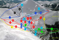 Valdezcaray Piste Map
