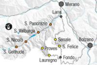 Val d'Ultimo / Schwemmalm Mapa zjazdoviek