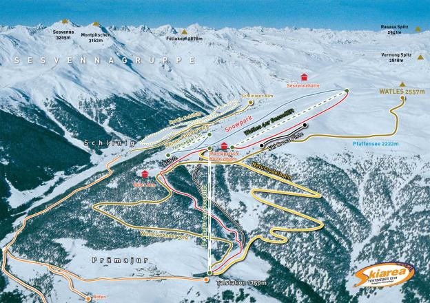 Watles Piste Map