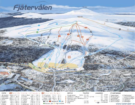 Fjätervålen Trail Map