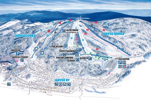 Jarvsobacken Piste Map
