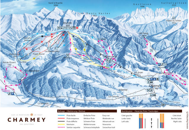 Charmey Mapa zjazdoviek
