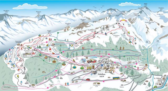 Grächen Piste Map