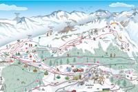 Grächen Mapa zjazdoviek