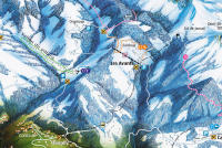 Les Avants Trail Map