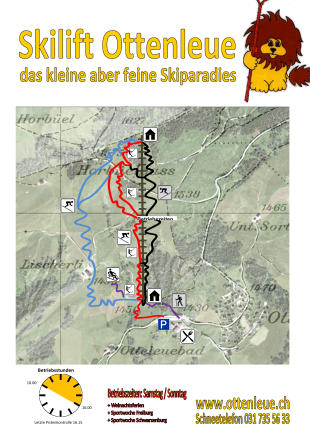 Ottenleue Piste Map